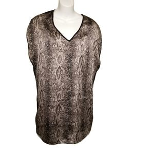 Ted Baker Snake Print Tunic Top